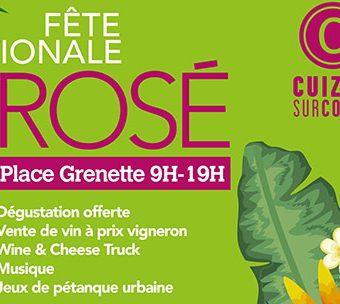 Ne ratez pas la Fête Nationale du Rosé de Cuiz'in sur Cours !