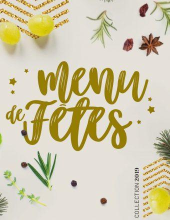 Menu spécial fêtes 2019